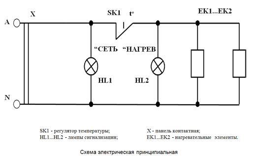 Принципиальная схема электропечи.