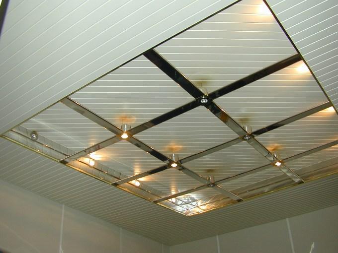 Подвесной потолок из пластика