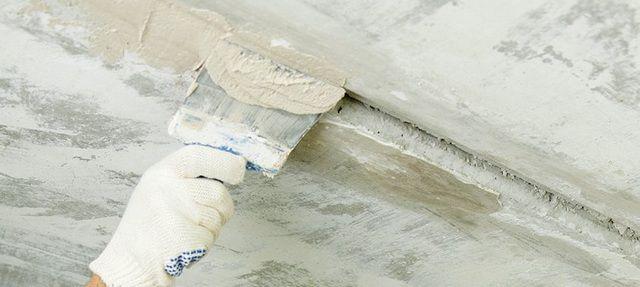 Заделка шва бетонным раствором