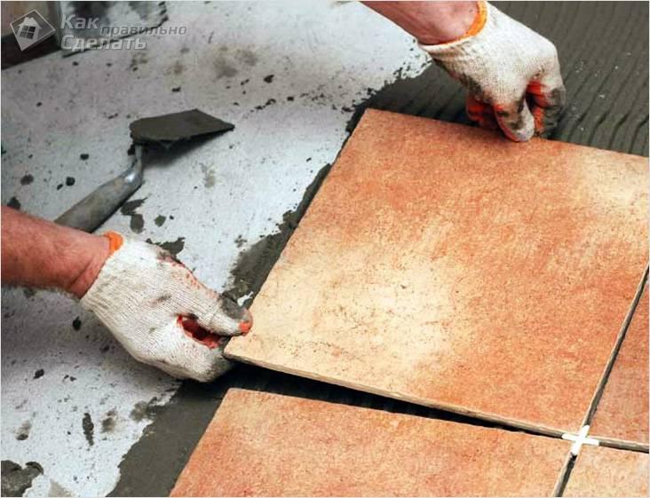 Финальная отделка может быть нескользкой плиткой
