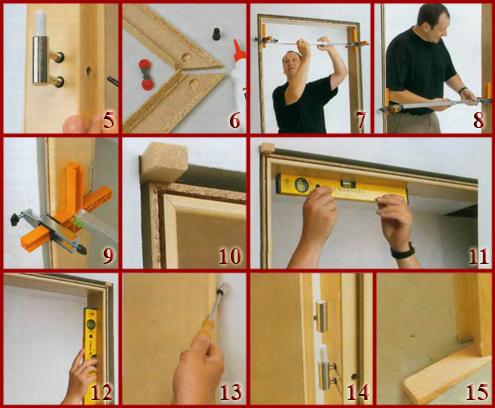 Как правильно установить дверную коробку