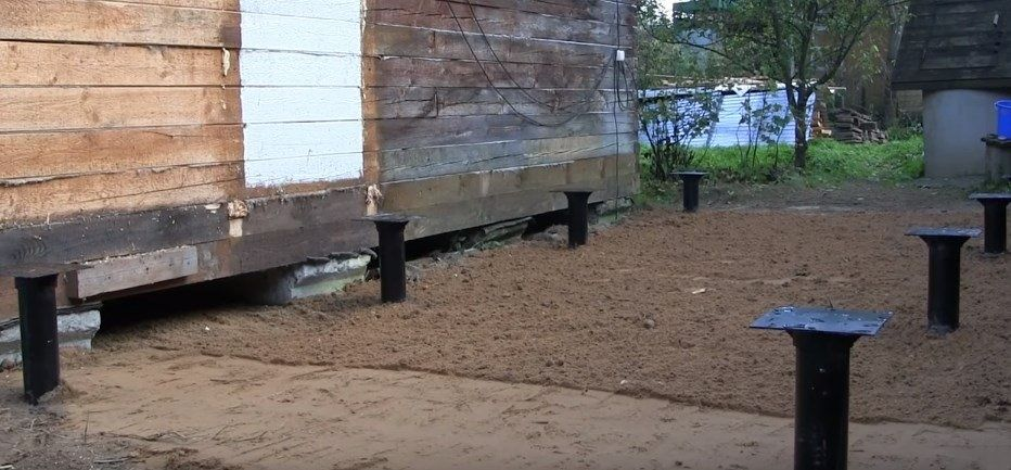 пристрой к деревянному дому из полистиролбетонных блоков