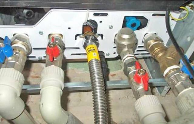 подключение одноконтурного газового котла к системе отопления