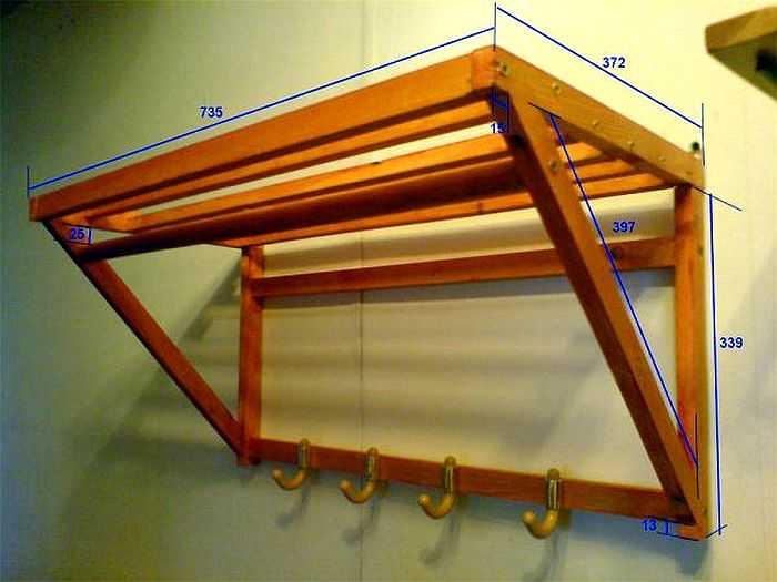 Изготовление вешалки из продольных и поперечных досок