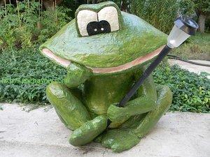 Садовые фигуры своими руками лягушка фото