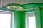 зеленая отделка стен