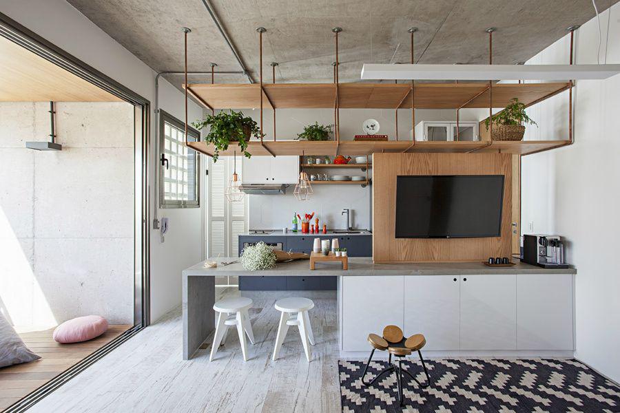 Фото 16 Бетонный потолок в интерьере: 60+ лаконичных идей для дизайна в стиле лофт, минимализм и хай-тек