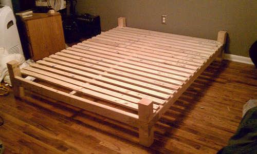 Сборка двуспальной кровати