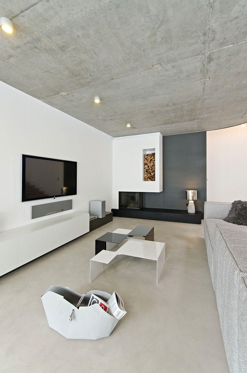 Фото 8 Бетонный потолок в интерьере: 60+ лаконичных идей для дизайна в стиле лофт, минимализм и хай-тек