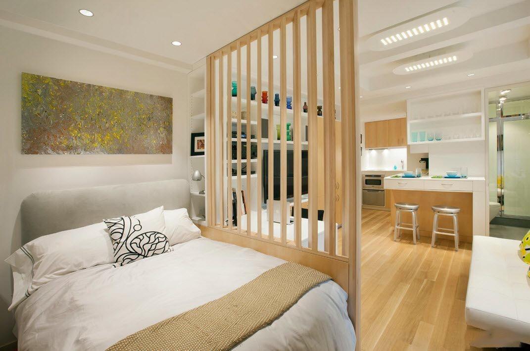Обустройство квартиры-студии с помощью зонирования