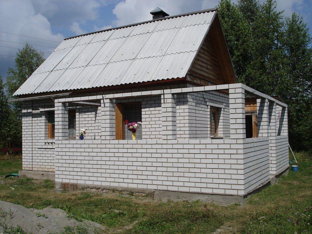 Вариант строительства веранды из кирпича