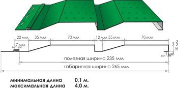 Софит металлический представляет собой листы качественной оцинкованной стали с нанесенным полимерным покрытием