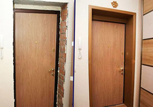 как сделать откосы на входную дверь своими руками