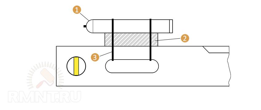 Схема крепления лазера